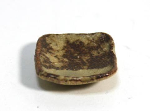 画像2: 陶芸四角皿・茶(特価)