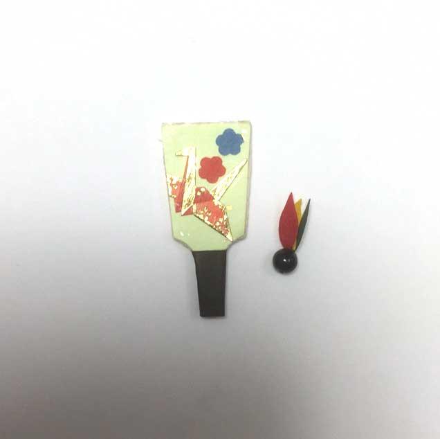 画像2: 羽子板セット(鶴)