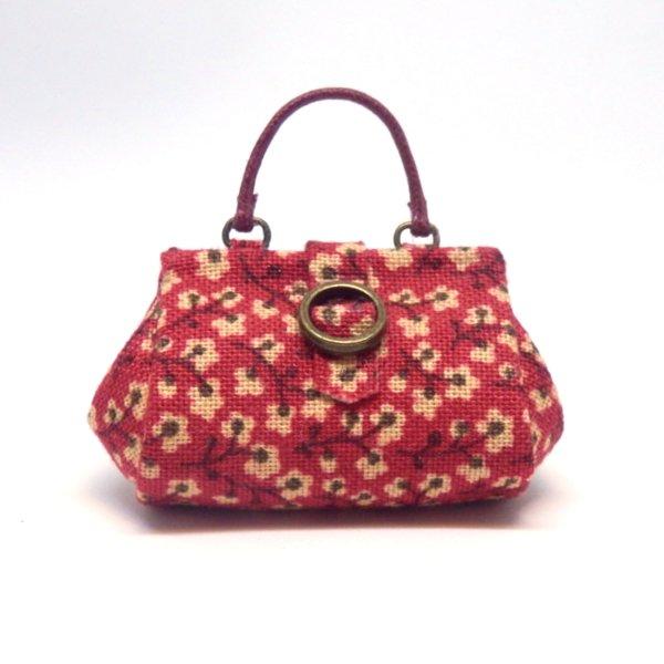 画像1: 赤柄バッグ