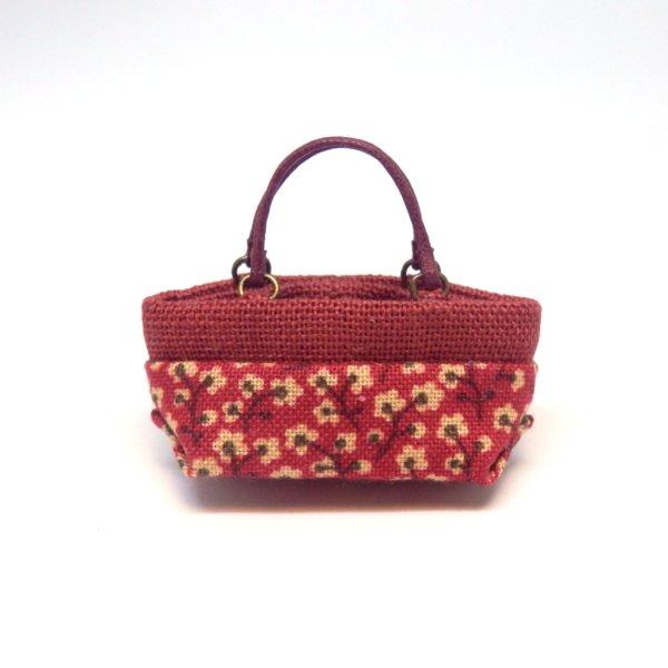 画像1: ミニトートバッグ 赤柄