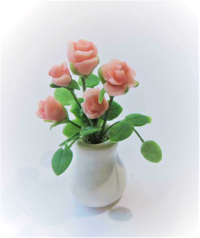 画像1: ばら(花瓶入り)