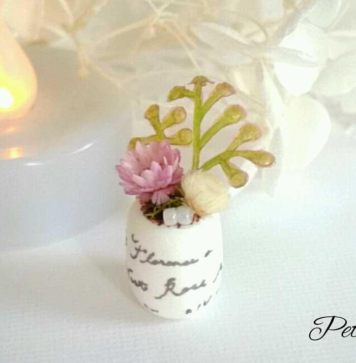 画像1: ミニチュア植物 pink×white