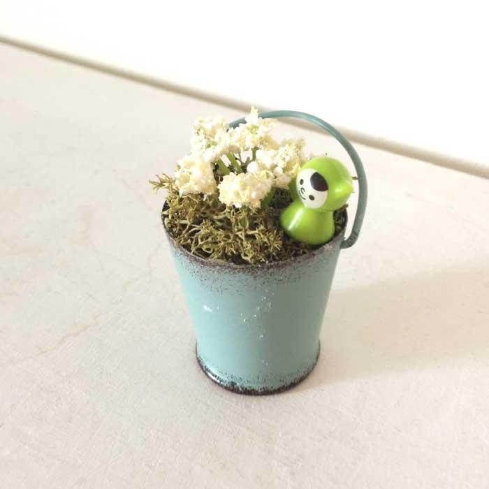 画像1: ブルーブリキバケツ寄せ植え