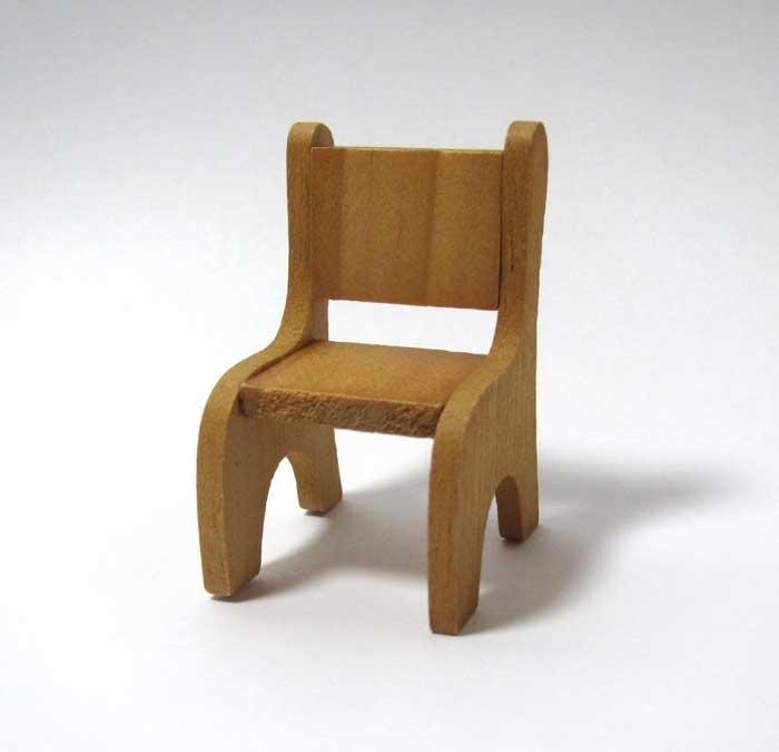 画像2: 木製ミニ椅子・オークル