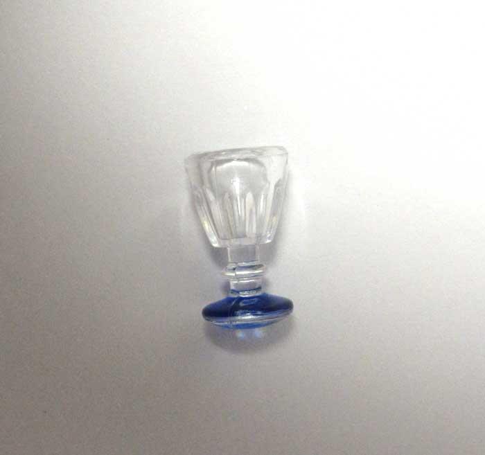 画像1: ブルー底グラス
