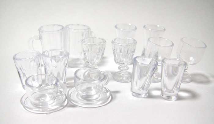 画像1: グラス14個セット