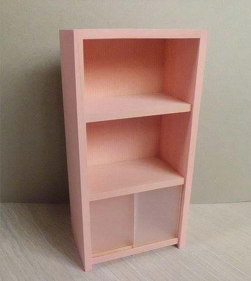 画像1: ピンク色の3段棚