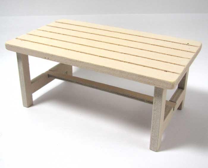 画像2: 木製テーブル・アイボリー