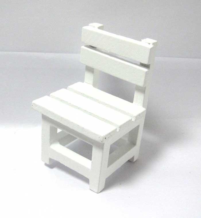 画像2: 木製ホワイト椅子