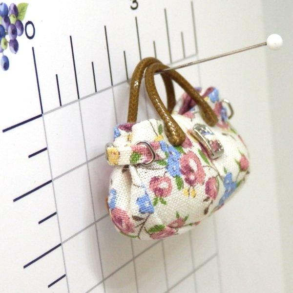 画像2: バッグ 白地花柄
