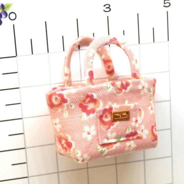 画像2: トートバッグ ピンク花柄