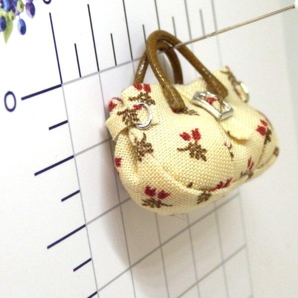 画像2: バッグ クリーム地花柄