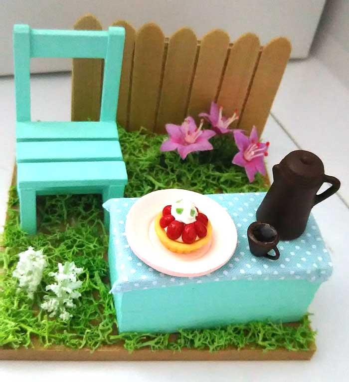 画像1: 春の庭でティータイム