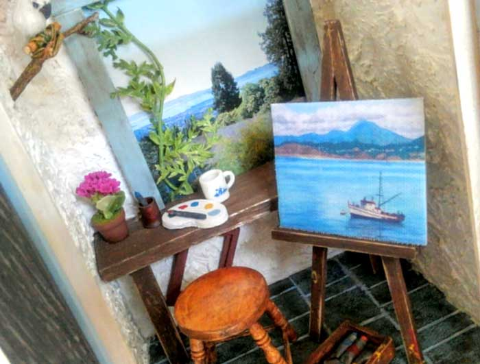 画像3: ミニチュアフレーム〜海の見えるアトリエで〜