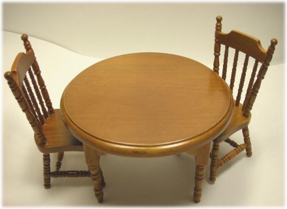 画像1: 丸テーブルセット ...