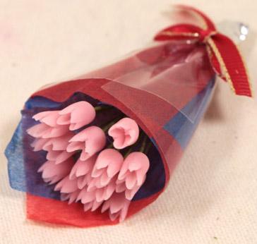 画像1: チューリップ花束・ピンク