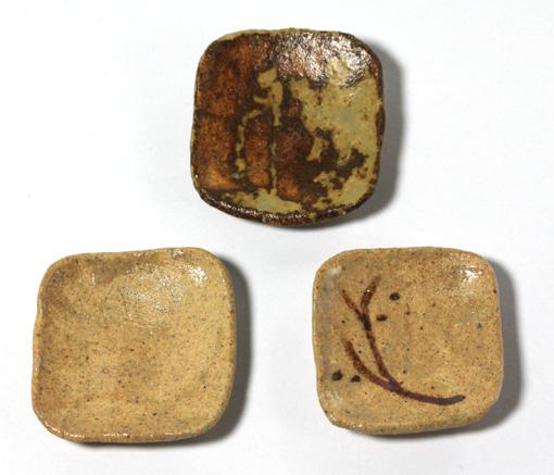 画像2: 陶芸四角大皿・茶(特価)