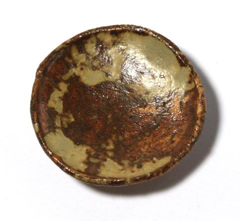 画像1: 陶芸丸皿・茶(特価)
