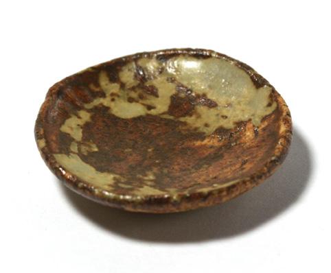 画像2: 陶芸丸皿・茶(特価)