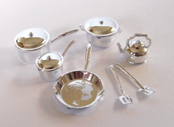 画像1: シルバー・調理器具セット