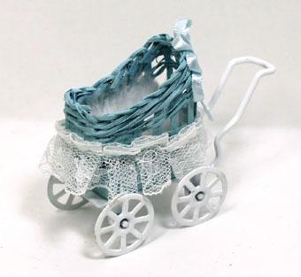 画像1: 乳母車・ブルー