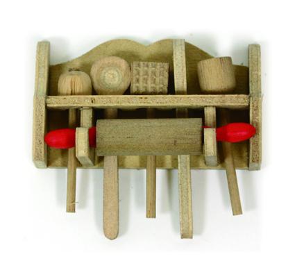 画像1: 木製キッチンツールセット