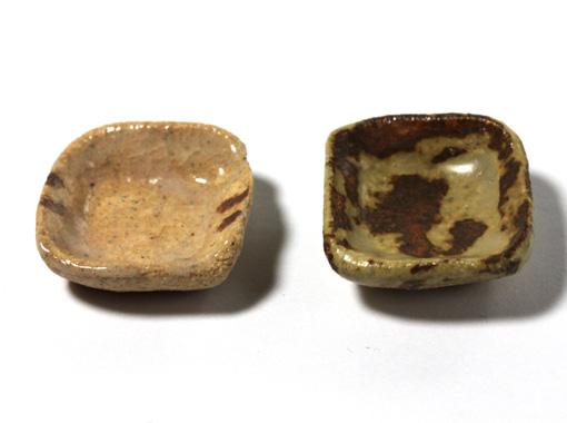 画像1: 陶芸角小碗(特価)
