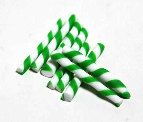 画像1: グリーン&ホワイトキャンディ