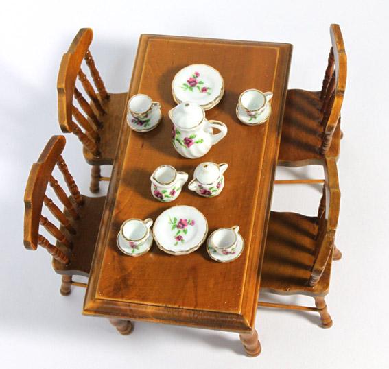 画像3: 角テーブルセット・ウォールナット