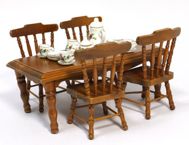画像2: 角テーブルセット・ウォールナット
