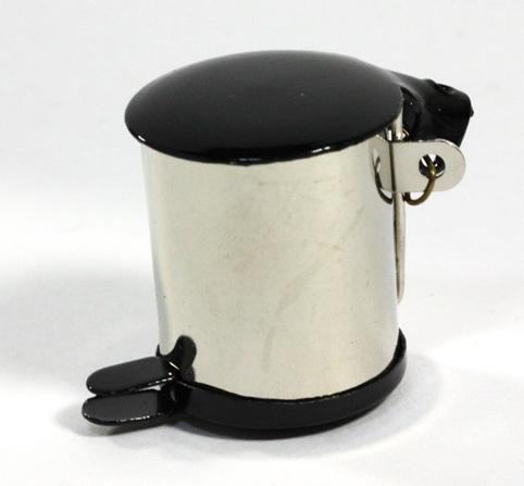 画像1: ダスト缶・シルバー&黒蓋