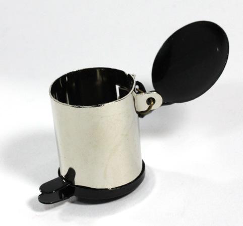 画像2: ダスト缶・シルバー&黒蓋