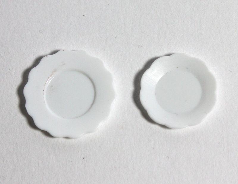 画像1: ホワイトプラスチック皿・1枚