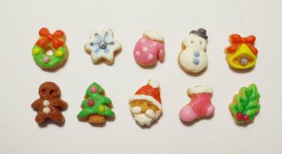 画像1: クリスマスアイシングクッキー
