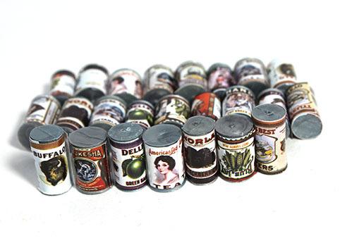 画像1: 缶24個セット・丸