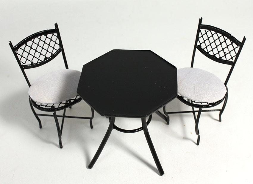 画像3: カフェテラステーブルセット・ブラック