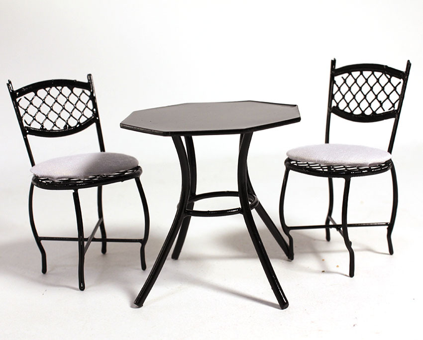 画像2: カフェテラステーブルセット・ブラック