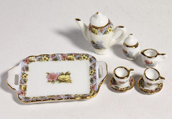 画像3: 花柄ティーセット・ピンク&ゴールド