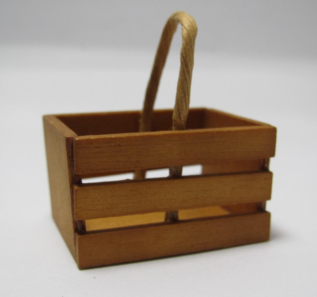 画像1: 木製取っ手付き箱