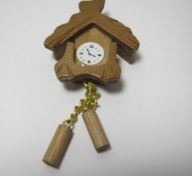 画像1: 掛け時計 茶