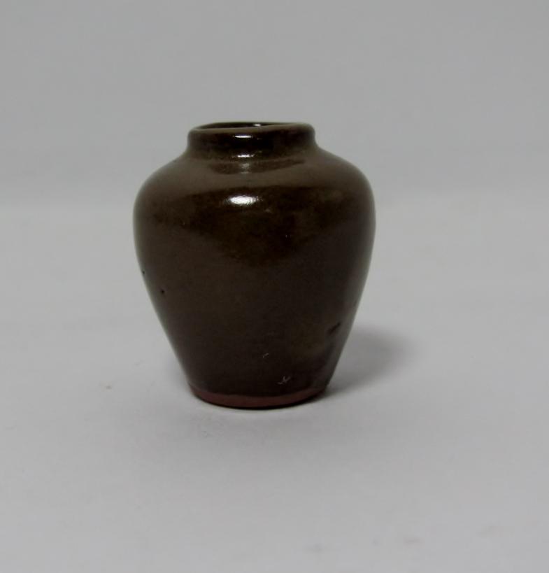 画像1: 陶器壷(うす茶)