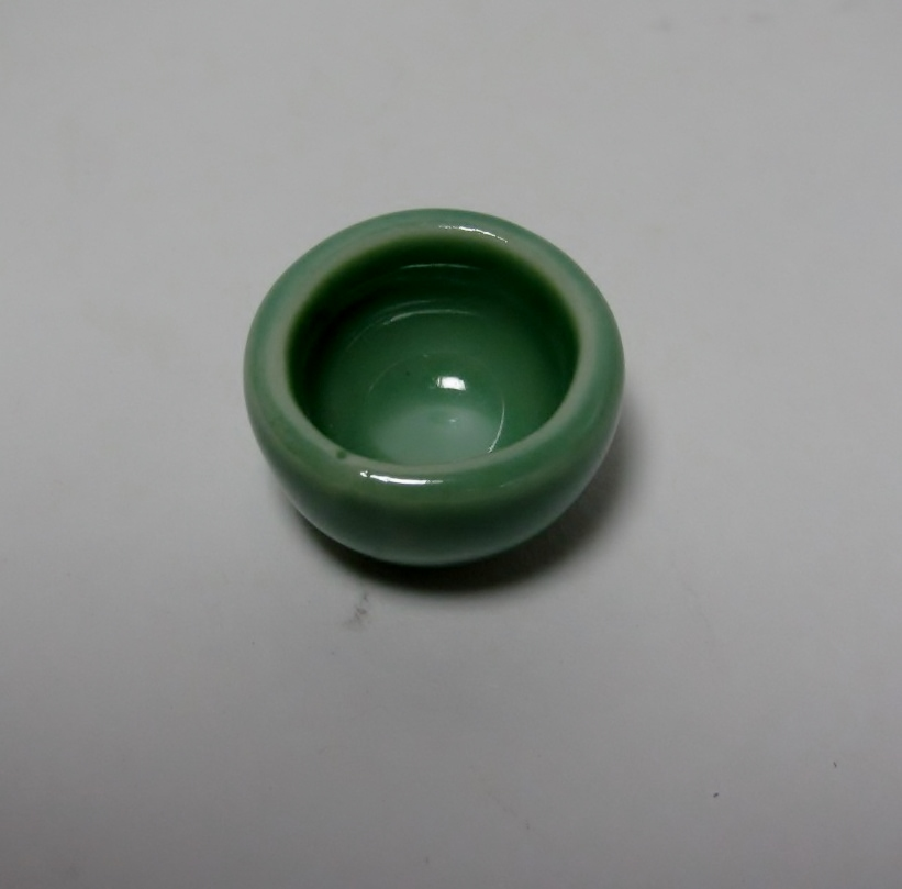 画像2: 陶器おわん グリーン