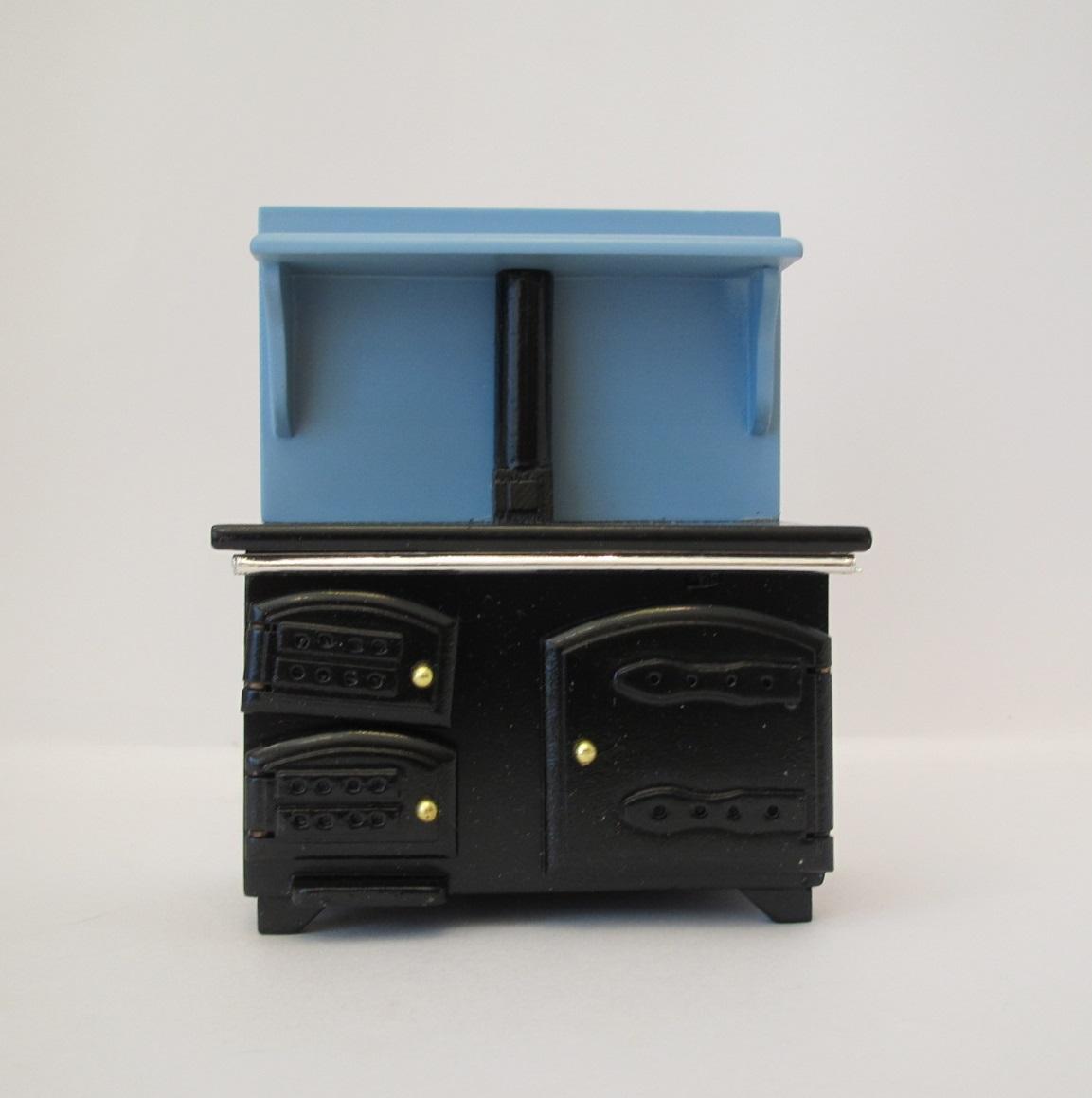 画像1: キッチンストーブ・ブルー&ブラック(処分品)
