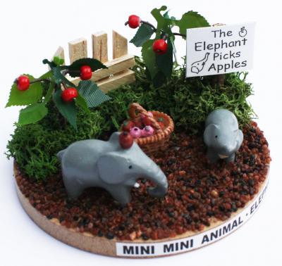 画像2: ミニミニアニマルキット / ゾウ