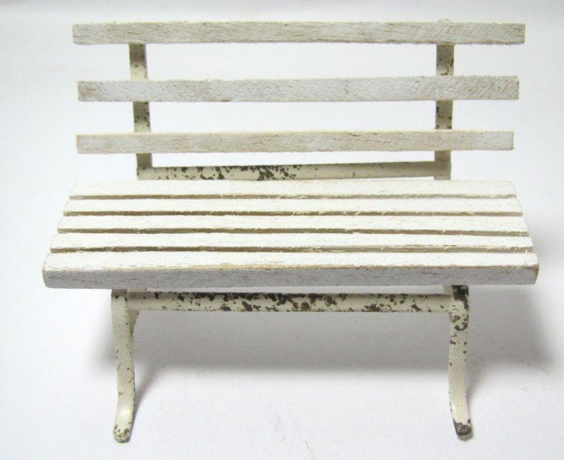 画像1: ガーデンベンチ ホワイト