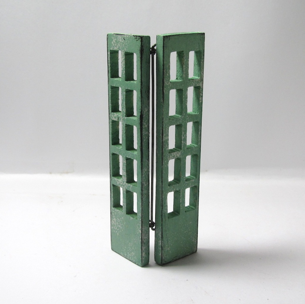画像2: 窓付ドア グリーン