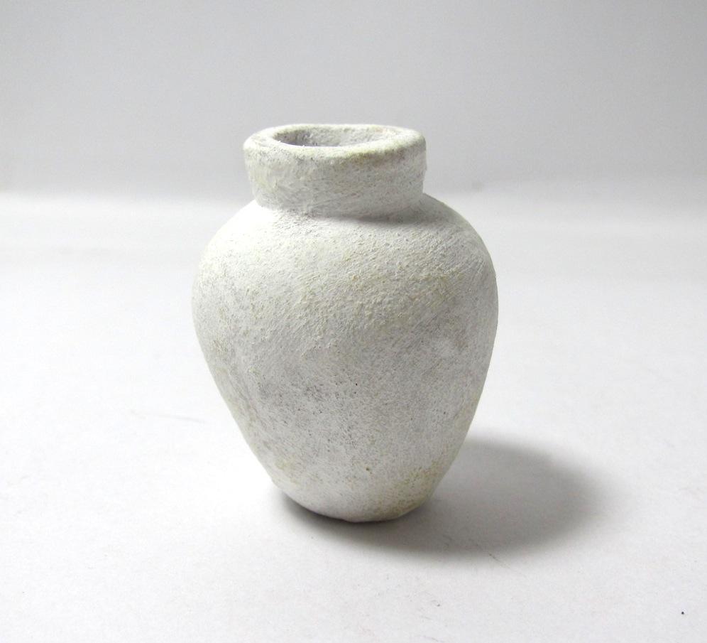 画像1: 壺 ホワイト 大