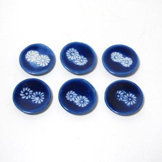 画像3: ミニティーセット藍染花紋