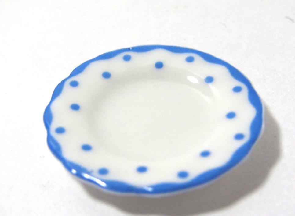 画像1: ブルードットお皿