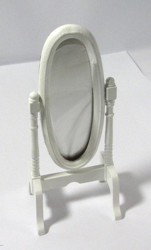 画像3: スタンドミラー木製ホワイト